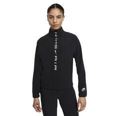 Nike Air Womens Dri-FIT Running Jacket Black XS, Black, rebel_hi-res