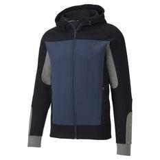 Puma Mens Evostripe Hooded Jacket Blue S, Blue, rebel_hi-res