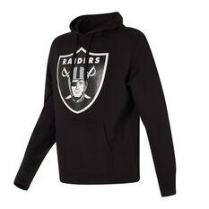Oakland Raiders 2021 Mens Prism Hoodie Black S, Black, rebel_hi-res