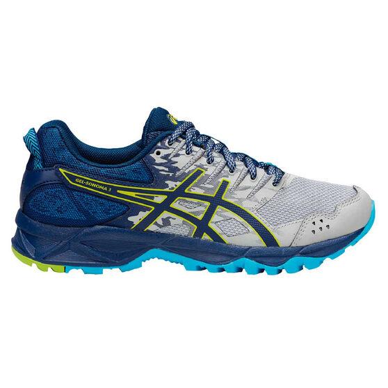 Asics GEL Sonoma 3 Womens Trail Running Shoes, Grey, rebel_hi-res