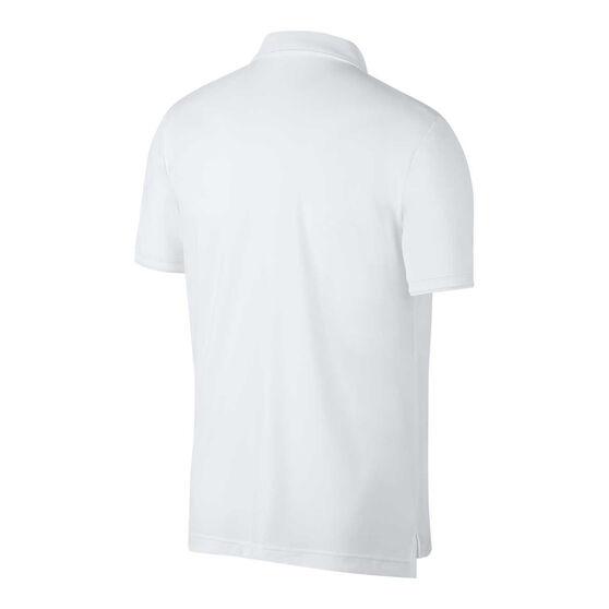 Nike Mens Court Dri-FIT Team  Tennis Polo, White, rebel_hi-res