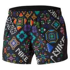 Nike Womens 10K Hyper Flora Shorts Black XS, , rebel_hi-res