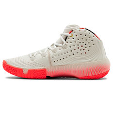 Under Armour HOVR Havoc 2 Mens Basketball Shoes White/Red US 7, White/Red, rebel_hi-res