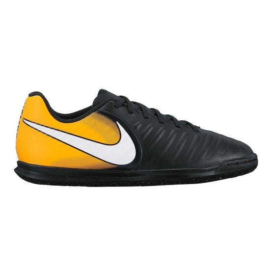 the latest c9553 38d05 Nike TiempoX Rio IV Junior Indoor Soccer Shoes Black   White US 6, Black