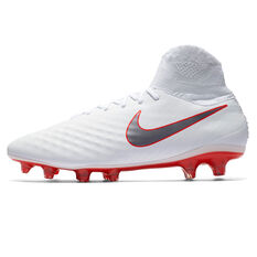 Nike Magista Obra II Pro Dynamic Fit Mens Football Boots White / Grey US 7, White / Grey, rebel_hi-res