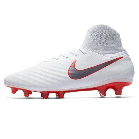 Nike Magista Obra II Pro Dynamic Fit Mens Football Boots, White / Grey, rebel_hi-res