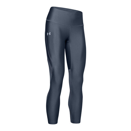 Under Armour Womens Fly Fast Glare Tights, Grey, rebel_hi-res