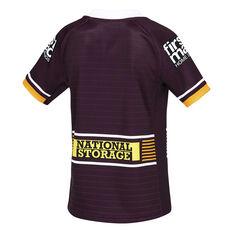 Brisbane Broncos 2021 Kids Home Jersey Maroon 6, Maroon, rebel_hi-res