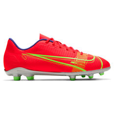 Nike Mercurial Vapor 14 Club Kids Football Boots Red US 1, Red, rebel_hi-res