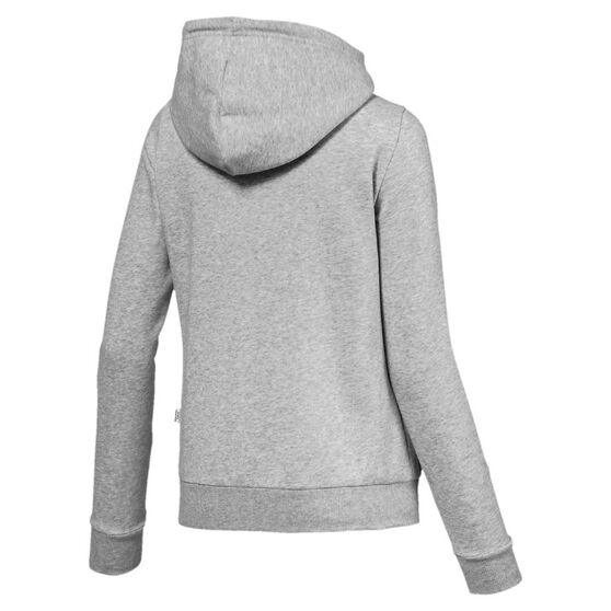 Puma Womens Essentials Fleece Hooded Jacket Grey S, Grey, rebel_hi-res