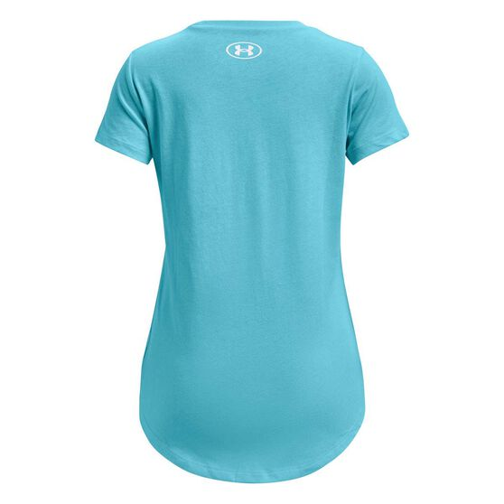 Under Armour Girls Live Sportstyle Graphic Tee, Blue/White, rebel_hi-res