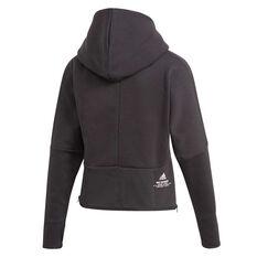 adidas Womens Z.N.E Hoodie Black XS, Black, rebel_hi-res
