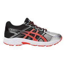 Asics GEL Contend 4 Boys Running Shoes Black / Grey US 1, Black / Grey, rebel_hi-res