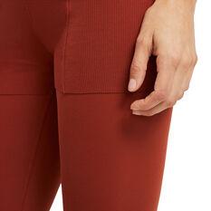 Nike Womens Yoga Luxe 7/8 Jumpsuit, Orange, rebel_hi-res