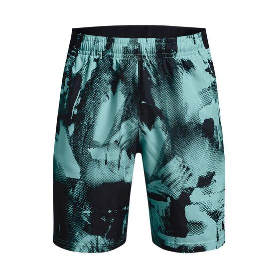 Under Armour Mens Adapt Woven Shorts, Aqua, rebel_hi-res