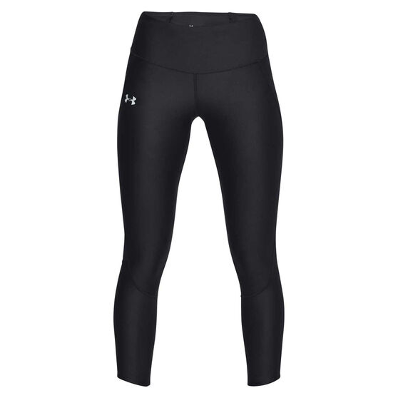 Under Armour Womens Fly Fast Crop Tights Black XS, Black, rebel_hi-res