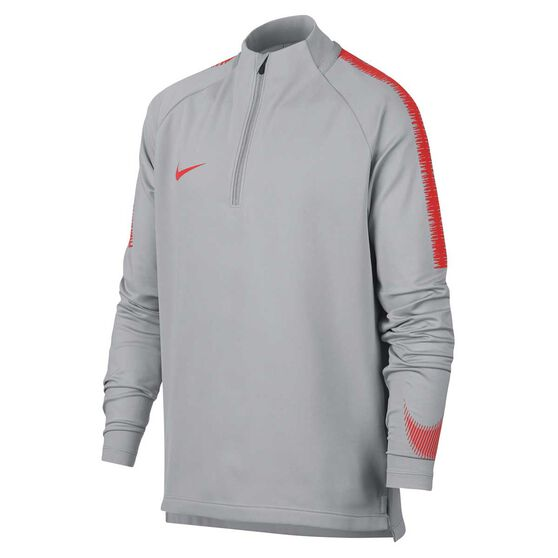 free shipping 832f0 ba924 Nike Boys Squad Drill Dry-Fit Top Grey   Red S, Grey   Red