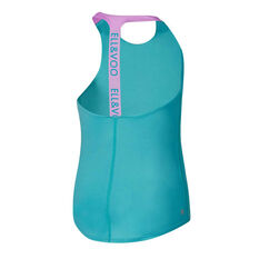 Ell & Voo Girls Keely Elastic Singlet, Blue, rebel_hi-res