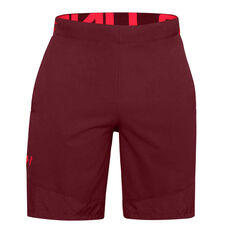 Under Armour Mens Vanish Woven Training Shorts Red S, Red, rebel_hi-res