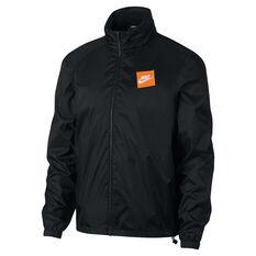 Nike Mens Sportswear Just Do It Woven Jacket Black S, Black, rebel_hi-res