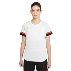Nike Womens Dri-FIT Academy Soccer Tee White XXL, White, rebel_hi-res