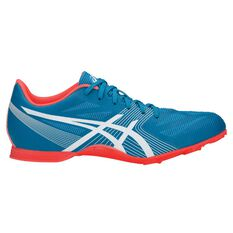 Asics Hyper MD 6 Mens Track and Field Shoes Blue / Coral US 7, Blue / Coral, rebel_hi-res