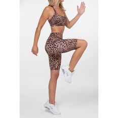 L'urv Womens Leopard Valley Bike Shorts, Print, rebel_hi-res