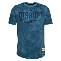Under Armour Mens Project Rock Disrupt Tee, Blue, rebel_hi-res