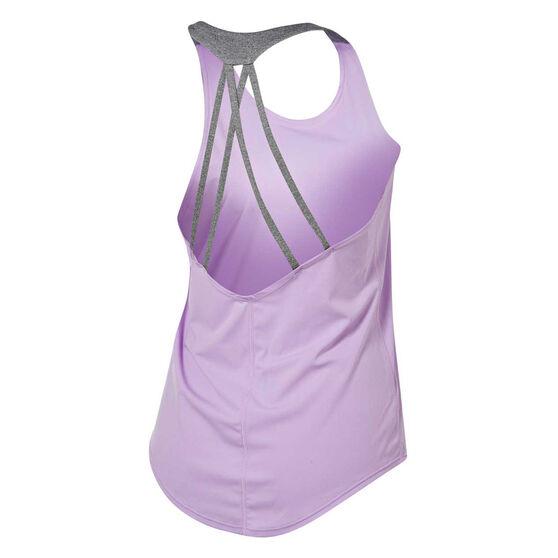 Ell & Voo Womens Heidi Workout Tank, Pink / Purple, rebel_hi-res