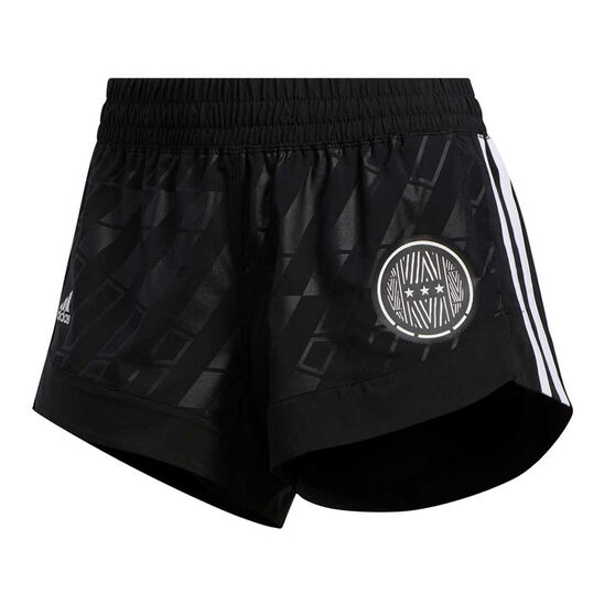 adidas Womens Badge It Up Woven Shorts, Black, rebel_hi-res
