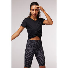 L'urv Womens Delta Twist Tee Black XS, Black, rebel_hi-res