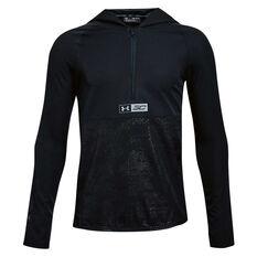 Under Armour Boys SC30 Windwear Top Black / Grey XS, Black / Grey, rebel_hi-res