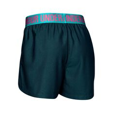 Under Armour Girls Play Up Shorts Teal XS, Teal, rebel_hi-res