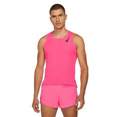 Nike Mens AeroSwift Running Singlet Pink XS, Pink, rebel_hi-res