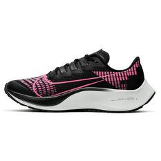 Nike Air Zoom Pegasus 37 Kids Running Shoes Black / Pink US 1, Black / Pink, rebel_hi-res