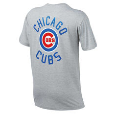 Chicago Cubs Mens Drimer Tee Grey S, Grey, rebel_hi-res