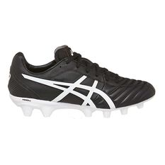 Asics Lethal Flash IT Mens Football Boots Black / White US 7 Adult, Black / White, rebel_hi-res