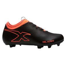 X Blades Legend Max 19 Mens Football Boots Black / Red US 7, Black / Red, rebel_hi-res