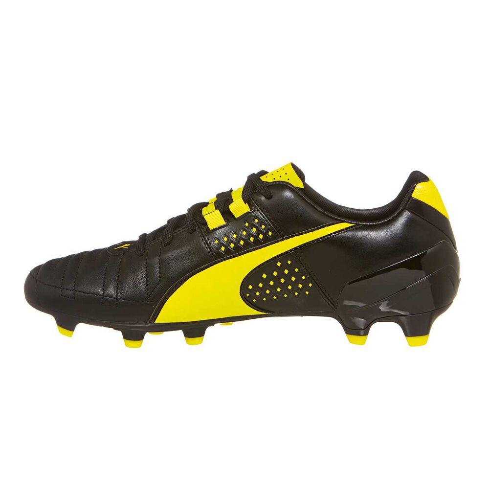 6a002d832f31 Puma Spirit II FG Mens Football Boots Black   Yellow US 7 Adult ...