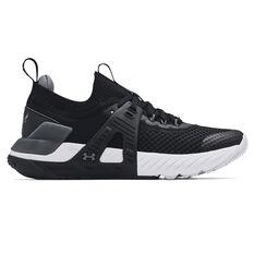 Under Armour Project Rock 4 Kids Training Shoes Black/White US 4, Black/White, rebel_hi-res