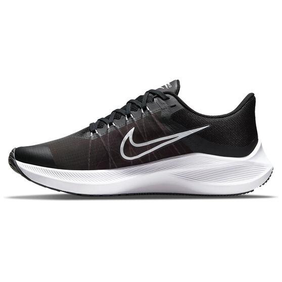 Nike Winflo 8 Mens Running Shoes, Black/White, rebel_hi-res