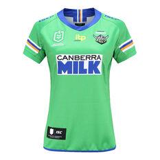 Canberra Raiders 2021 Ladies Heritage Jersey Green 8, Green, rebel_hi-res