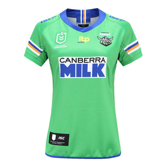 Canberra Raiders 2021 Ladies Heritage Jersey, Green, rebel_hi-res