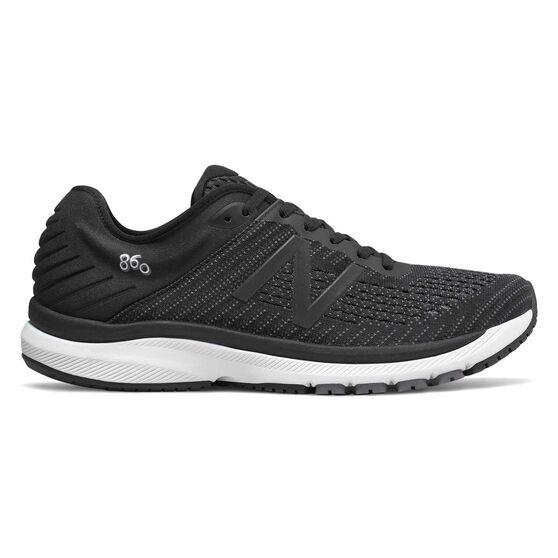 New Balance 860v10 2E Mens Running Shoes, Black, rebel_hi-res