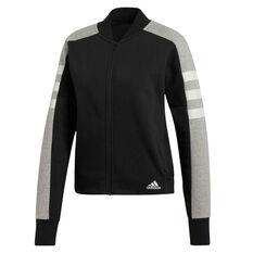 adidas Womens Sport ID Jacket Black XS, Black, rebel_hi-res