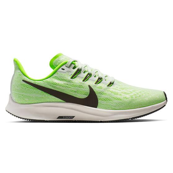 Nike Air Zoom Pegasus 36 Mens Running Shoes, Green / White, rebel_hi-res