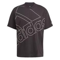 adidas Giant Logo Mens Tee Black S, Black, rebel_hi-res