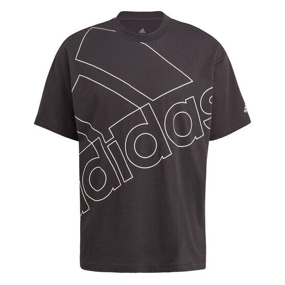 adidas Giant Logo Mens Tee, Black, rebel_hi-res