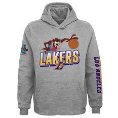 Space Jam: A New Legacy x Los Angeles Lakers Kids Hoodie Grey S, Grey, rebel_hi-res