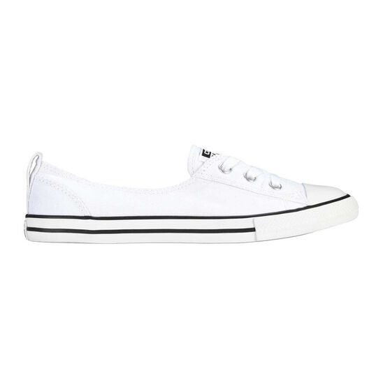 Converse Chuck Taylor All Star Ballet Womens Casual Shoes, White, rebel_hi-res